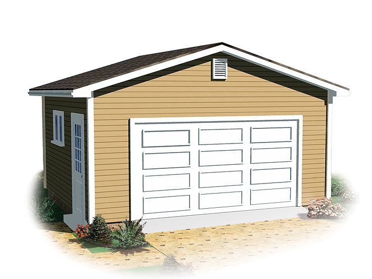 Two-Car Garage Plan, 028G-0043