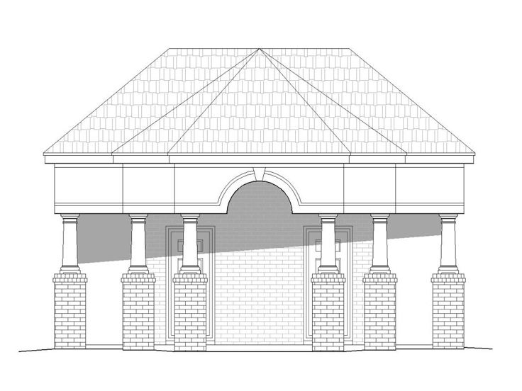 Pool House Plans Poolside Structure With Half Bath And