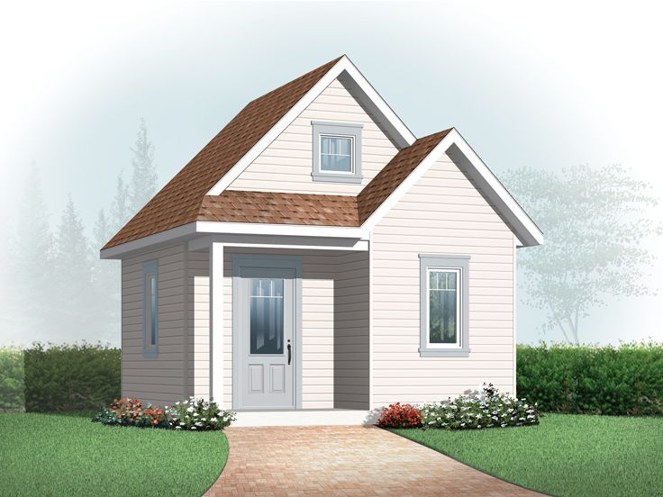 Storage Shed Plan, 028S-0007