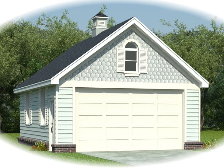 2 Car Garage Plans Two Car Garage Plan With Front Facing