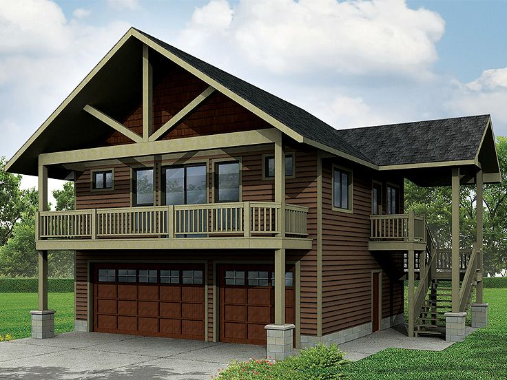 Carriage house plans craftsman style carriage house plan for Small house over garage plans