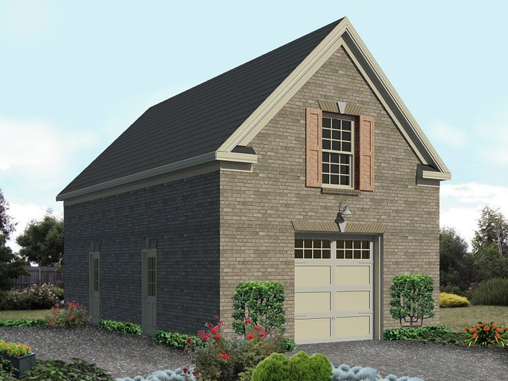 Spacious 6 Car Garage W Rec Room: 1-Car Garage Plan With Loft