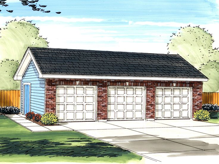 Triple Garage Plan, 050G-0026