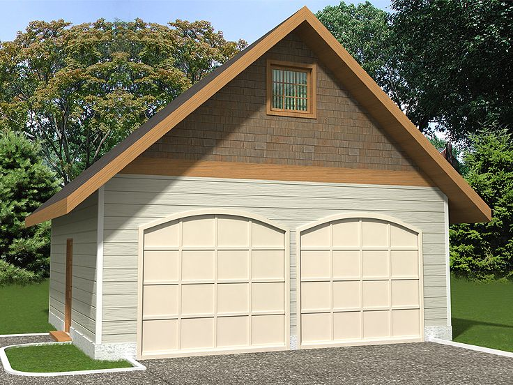 Two Car Garage Plan, 012G-0042
