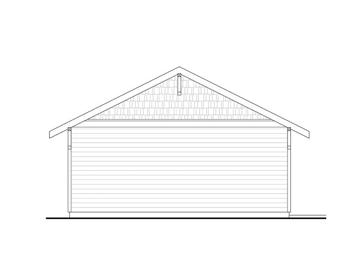 2 Car Garage Plans Two Car Garage Plan With Gable Roof