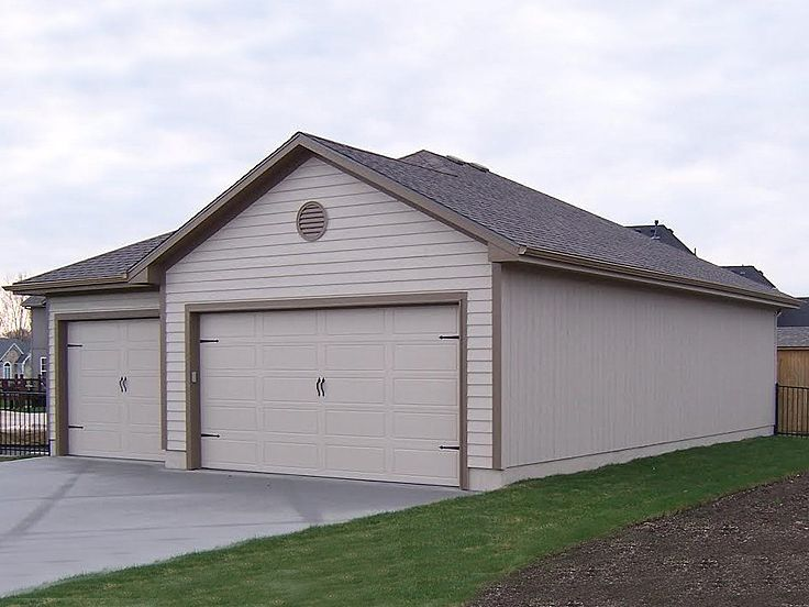 Tandem garage plans tandem garage plan parks 6 cars for Garage plans with boat storage