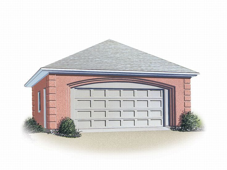 Two Car Garage Plans 2 Car Garage With Hip Roof Plan