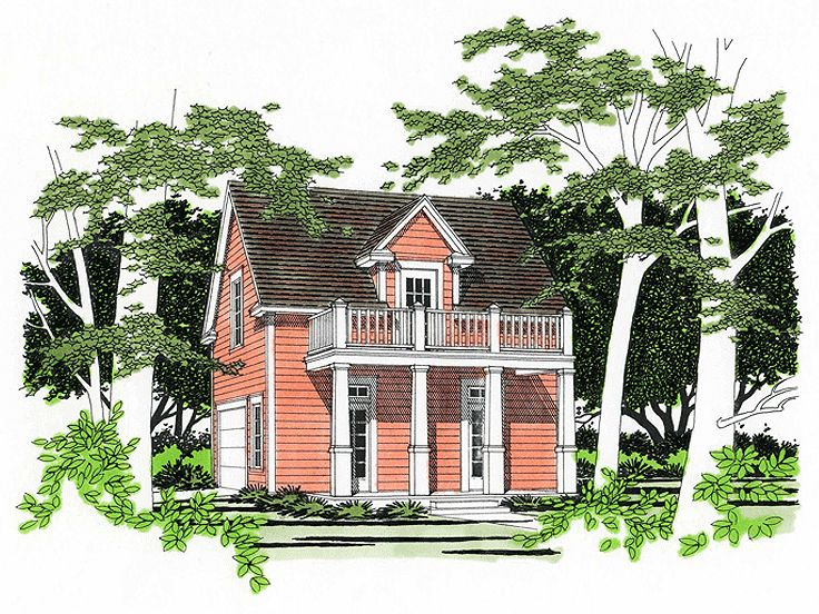 Carriage house plans southern style garage apartment for Carriage house floor plans