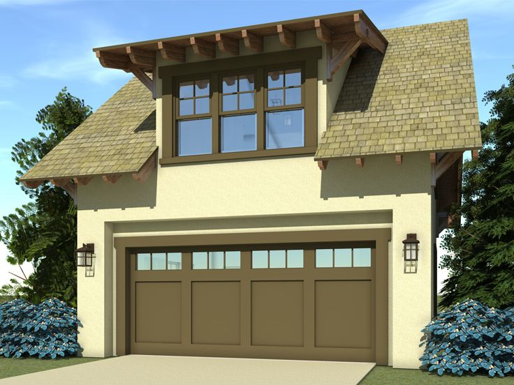 Craftsman-style Garage Loft Plan #052G