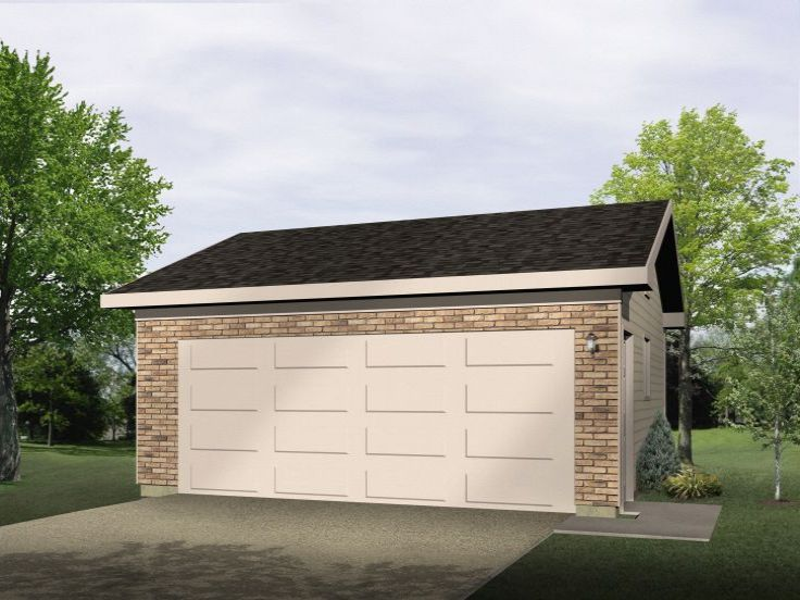 Plan 005g 0071 garage plans and garage blue prints from for Drive through garage plans
