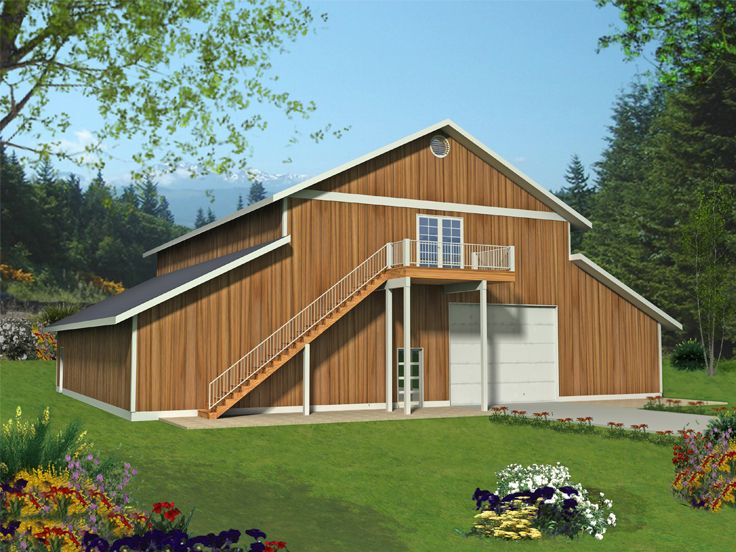 Outbuilding plans outbuilding plan with tandem garage for Tandem garage house plans