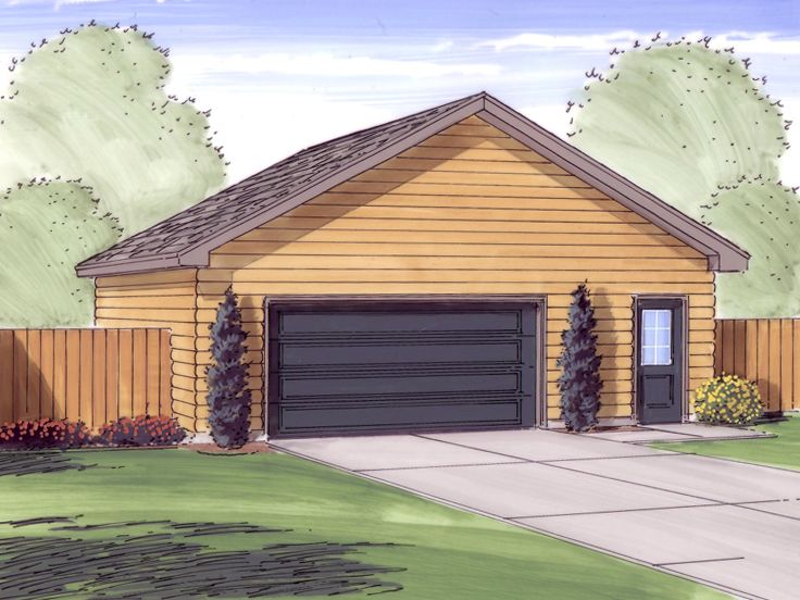 2 car garage plans detached two car garage plan with for Oversized garage plans