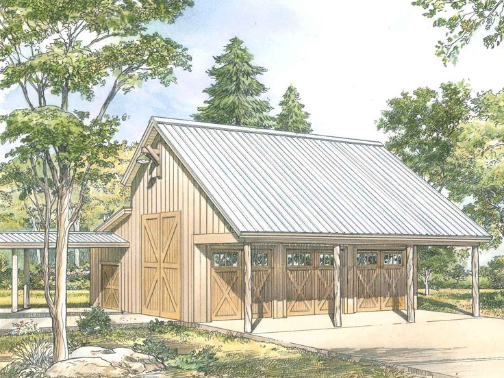 nice barn shop plans #9: Plan 008G-0006