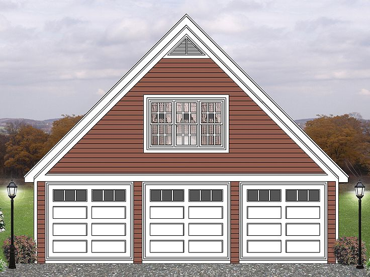 Garage loft plans three car garage loft plan offers for Large garage plans