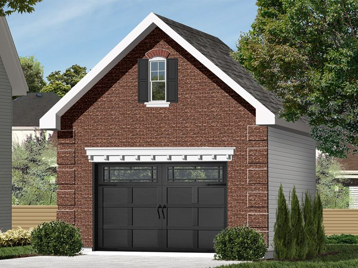 1 Car Garage Plans One Car Garage Plan With Loft 028g 0004 At Www Thegarageplanshop Com