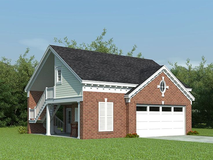 Garage apartment plans carriage house plan with double for Double garage apartment plans