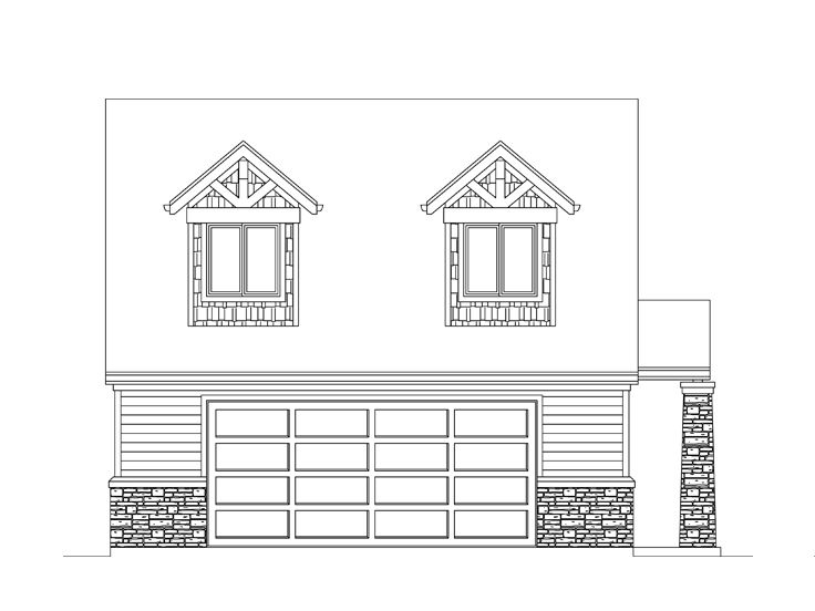 Garage Apartment Plan, 024G-0017