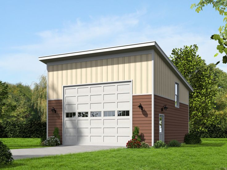 2 Car Garage Plans Modern Two Car Garage Plan With Loft