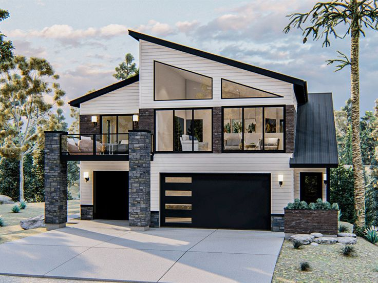 Carriage House Plans | Modern Carriage House Plan # 050G ...