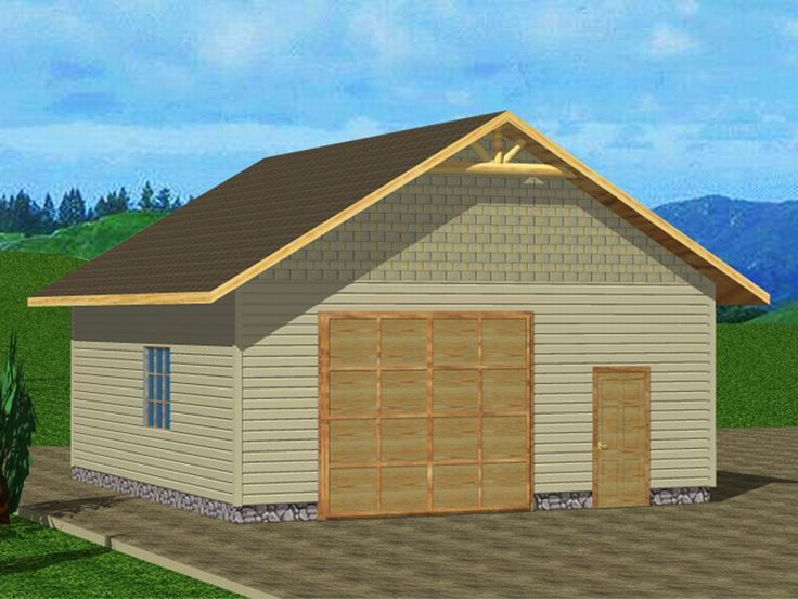 2-Car Garage with Storage, 012G-0009