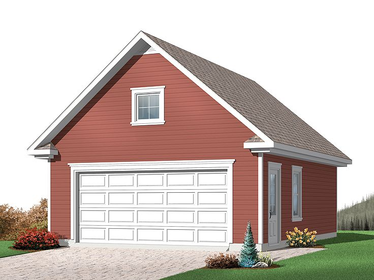 Two car garage plans detached 2 car garage plan with for Oversized garage plans