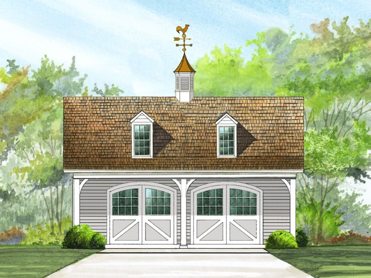 2-Car Garage Loft Plan Features