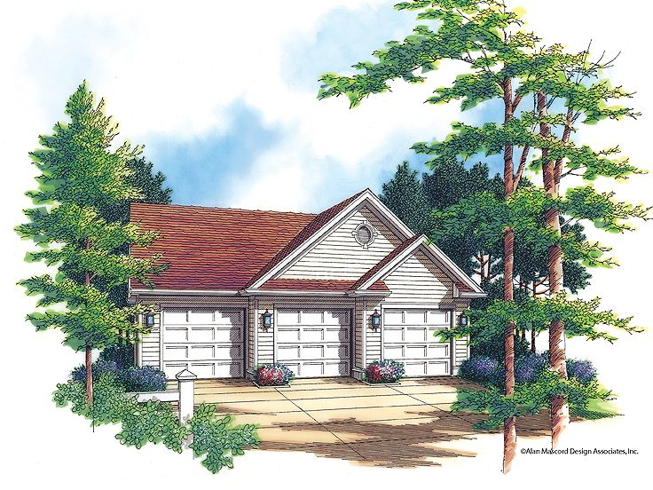 3 Car Garage Plan, 034G-0007