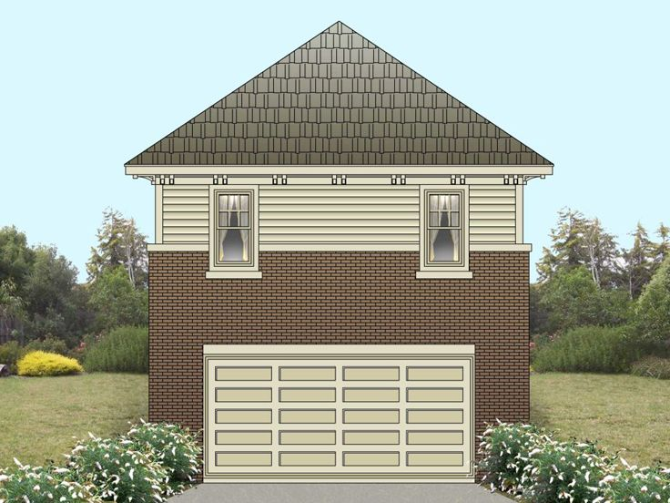 Garage Apartment Plan, 006G-0082