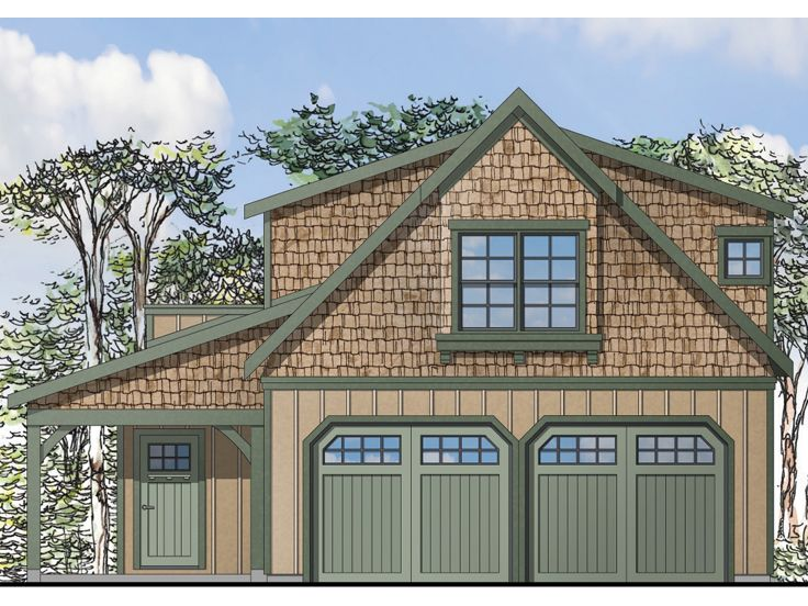 Carriage house plans craftsman style garage apartment for Carriage house garages