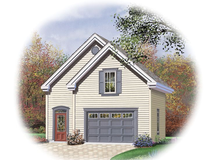 2 car garage plans traditional two car garage plan with for Two car garage with loft
