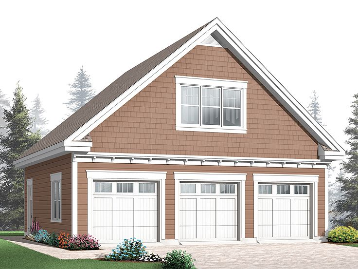 Three-Car Garage Loft Plan # 028G-0039