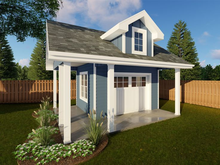 Shed Plans Backyard Shed Plan With Overhead Door Design