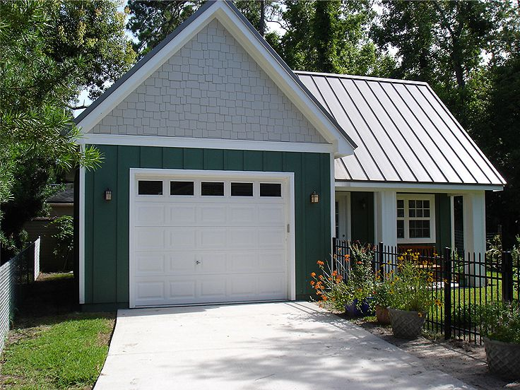 Garage workshop plans one car garage workshop plan for Apartment homes with attached garage