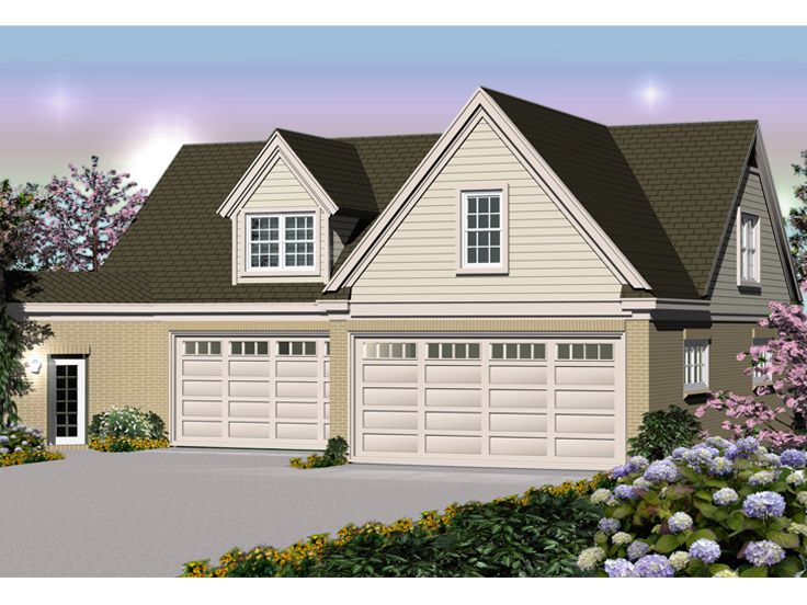 Car Garage Plans  Six-Car Garage Plan with Apartment Attaches to ...