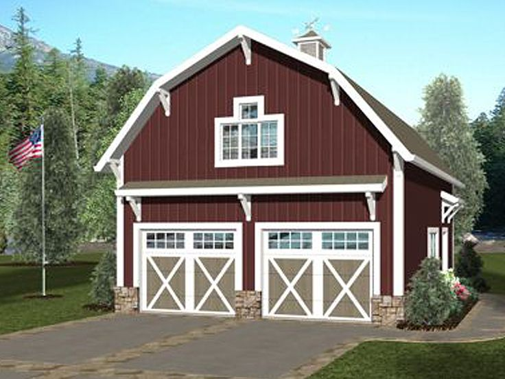 Carriage house plans barn style carriage house plan with for Carriage house barn