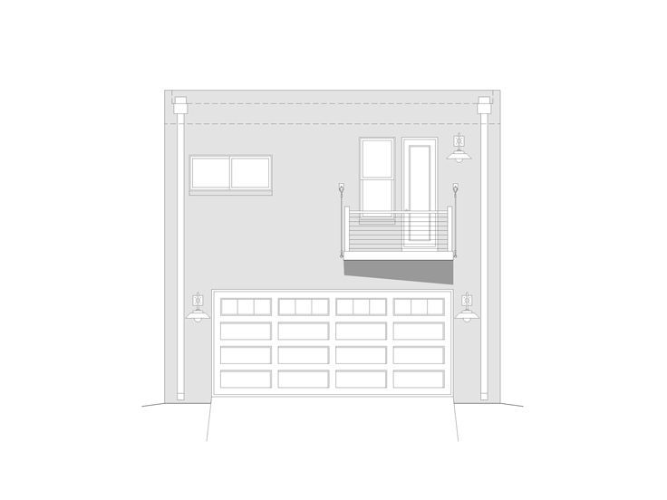 Garage apartment plans 2 car garage apartment plan for Contemporary garage apartment plans