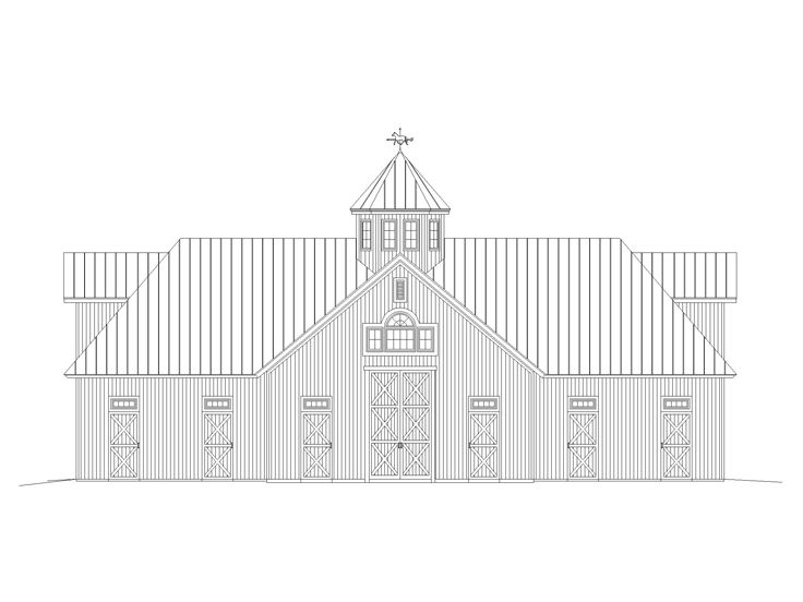 Outbuilding Plans Horse Barn Plan With Hay Loft Design