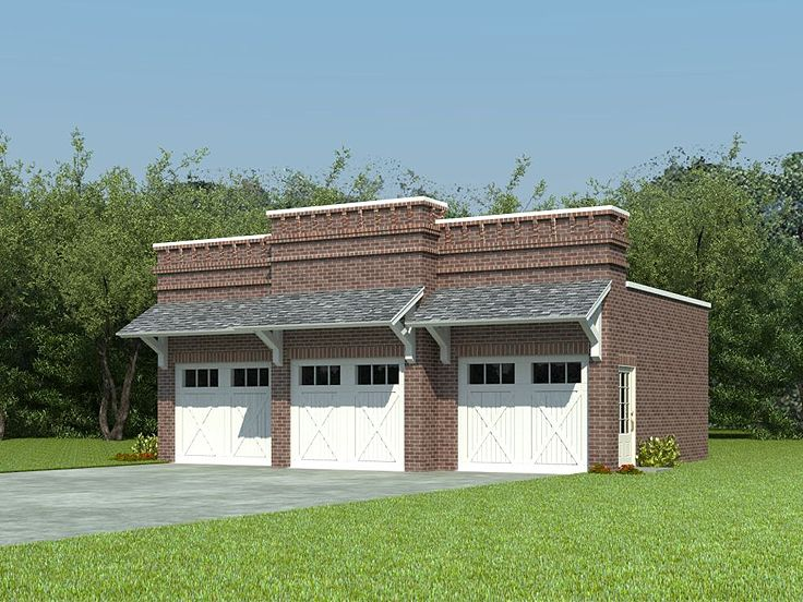Unique garage plans unique 3 car garage plan 006g 0044 for Large garage plans