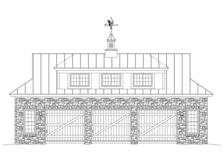 Carriage House Plan, 006G-0143