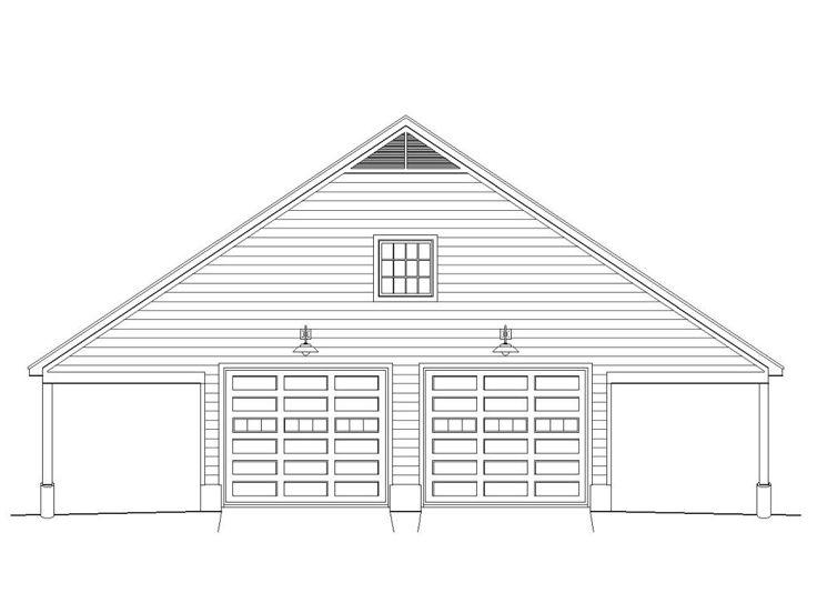Drive thru garage plans drive thru garage plan with for Drive through garage plans