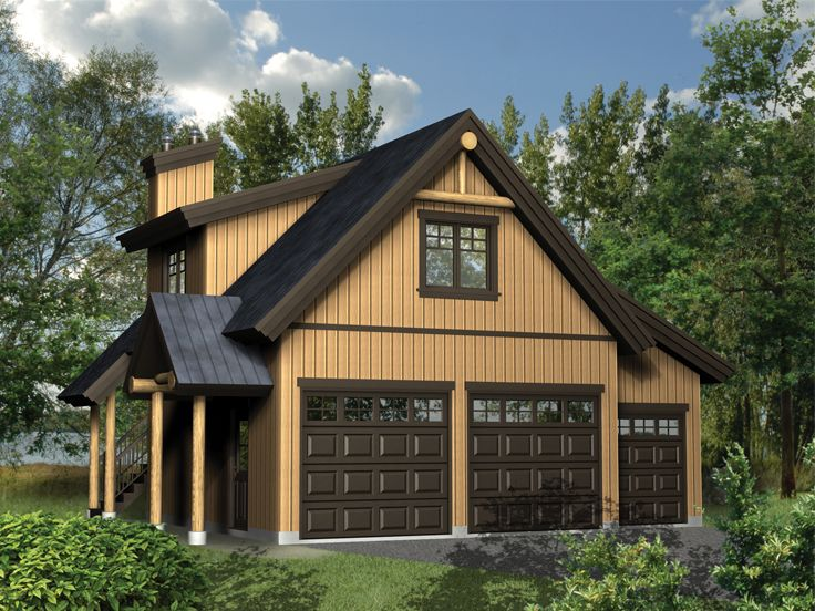 Garage plans with loft three car garage loft plan at for Plan maison bungalow avec garage