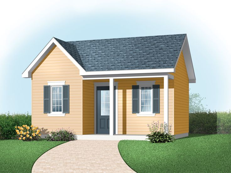 Garden Shed Plan, 028S-0005