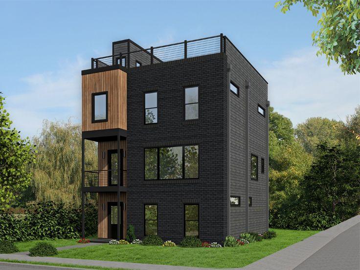 . Garage Apartment Plans   Modern Garage Apartment Plan   062G 0141 at