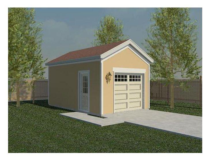 One Car Garage Plans 1 Car Garage Plan For The Backyard 006g