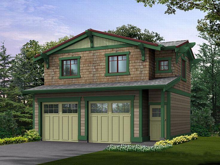 Garage apartment plans craftsman style garage apartment for Four car garage with apartment