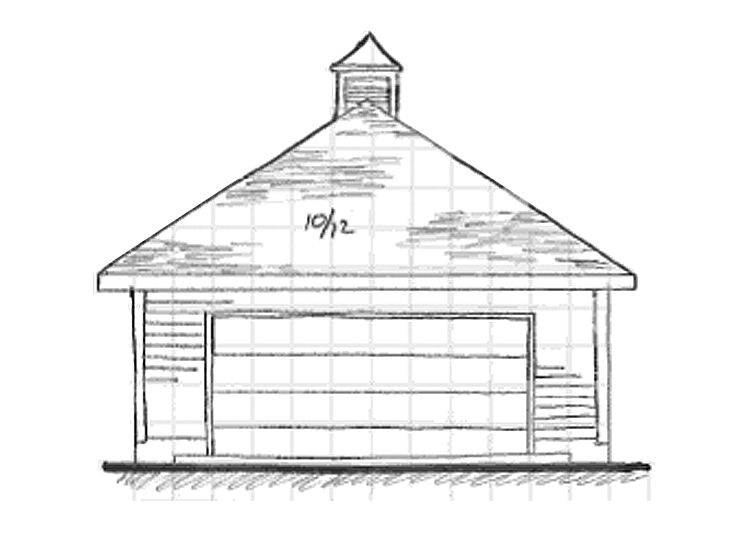 2 Car Garage Plans Two Car Garage With Hip Roof Plan