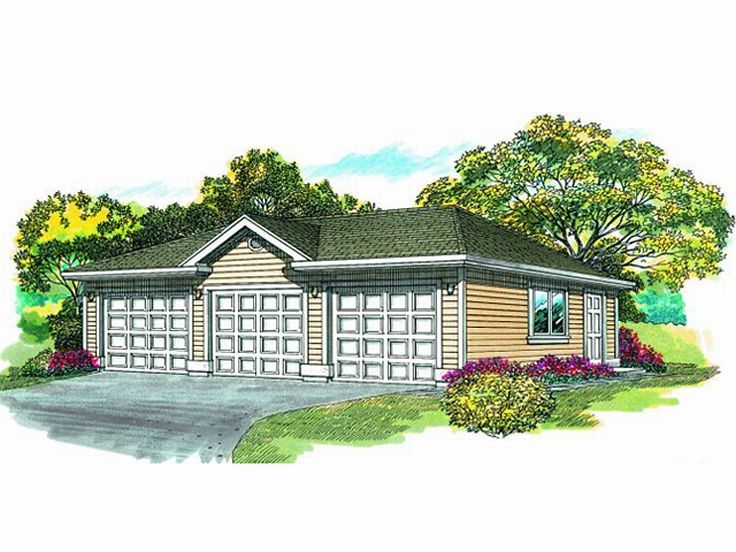 Three Car Garage Plans 3 Car Garage Plan With Hip Roof