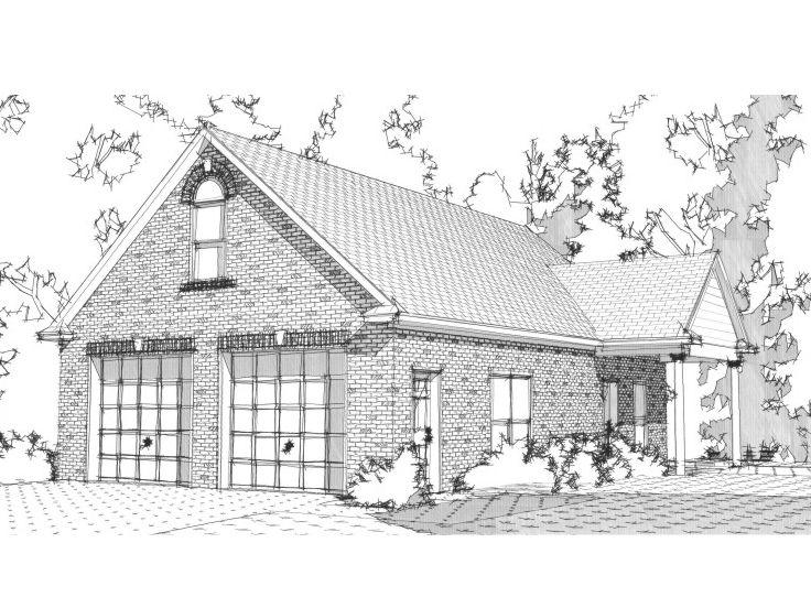 Garage plans with flex space detached 2 car garage plan for Garage plans with shop space