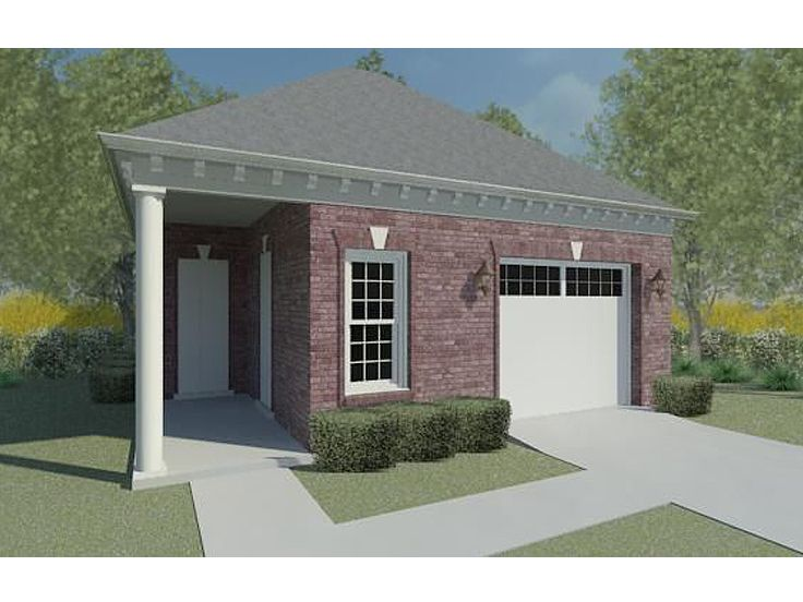 Garage Plans With Flex Space 1 Car Garage Plan With Pool
