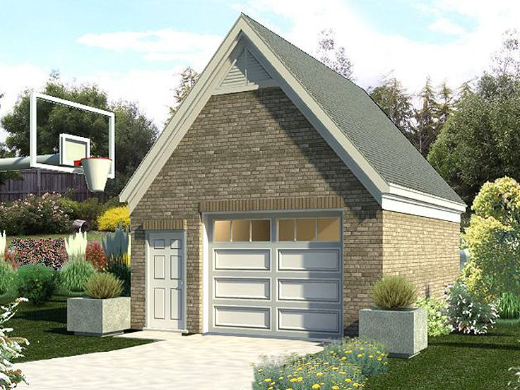 1 car garage plans one car garage plan with storage for Oversized one car garage